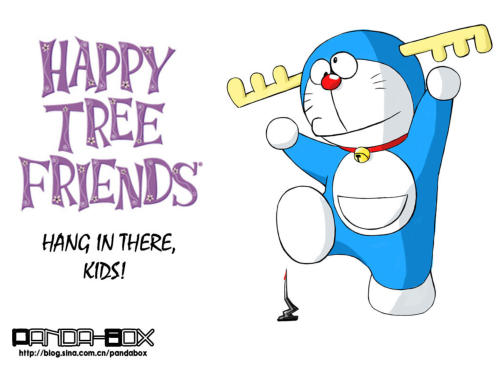 doraemon - happy tree friends